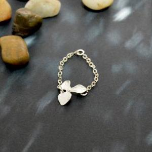 Orchid ring, Flower ring, Chain rin..