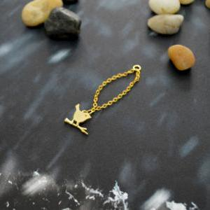 Chain ring, Bird ring, Gold bird ri..