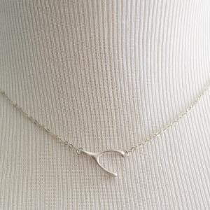 Wishbone necklace, Simple necklace,..