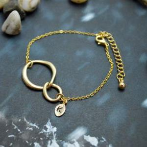 C-028 Interlocking initial bracelet..