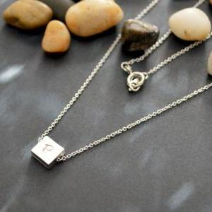 A-071 Personalized initial necklace..