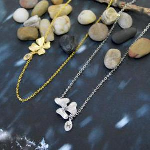 A-095 Initial orchid necklace,Perso..