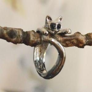 E-002 Cat ring, Adjustable ring, St..