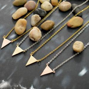 A-092 Triangle necklace, Simple nec..
