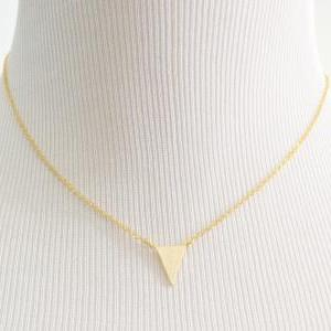A-090 Triangle necklace, Simple nec..