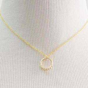 A-085 Ring necklace, Simple necklac..