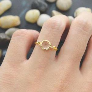 E-012 Champagne Glass ring, Gold Fr..