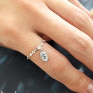 E-009 Personalized Initial ring, Le..