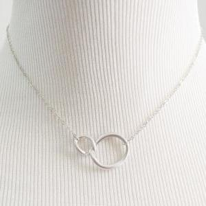 A-074 Linked ring Necklace, Two cir..