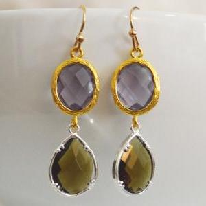 SALE) B-029 Glass earrings, Tanzani..