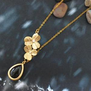 A-021 Unbalanced flower necklace, B..