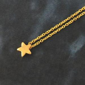 A-002 Star necklace, Simple Necklac..