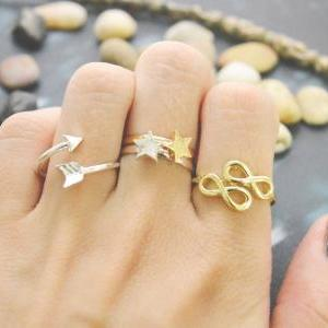 E-045 Infinity ring, Adjustable rin..