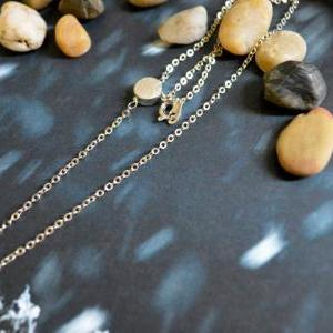 A-125 Sideways Coin necklace, Coin ..