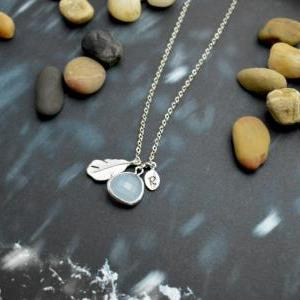 A-117 Hand stamped initial leaf nec..