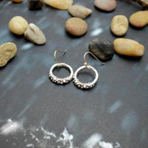 B-069 Ring earrings, Simple earring..