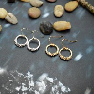 B-068 Ring earrings, Simple earring..