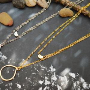 A-173 Layered pendant necklace, Dou..