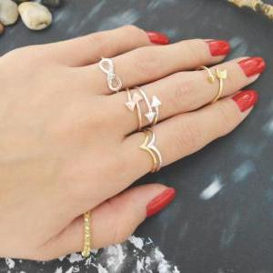 E-058 Chevron ring, Triangle, Simpl..