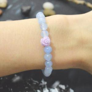 C-129 Rose bracelet, Stretch bracel..