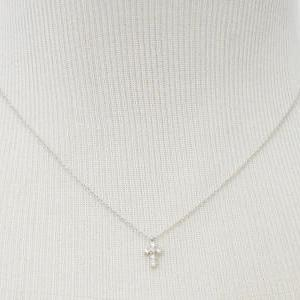 A-189 Cubic cross necklace, Zirconi..