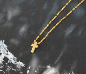 Mini cross necklace,..
