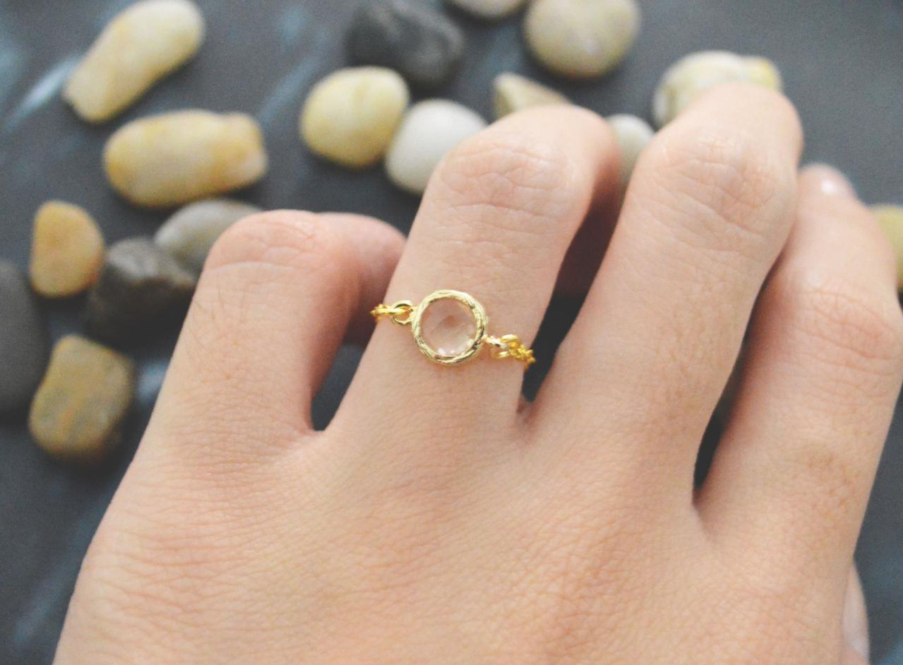 Chain ring, Gold Frame ring, Champagne Glass ring, Simple ring, Modern ring, Gold plated ring/Everyday/Gift/