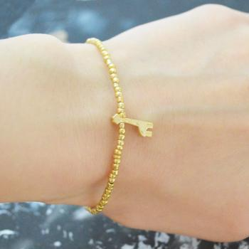 C-104 Gold Beaded bracelet, Seed bead bracelet, Giraffe bracelet, Simple, Modern bracelet, Gold plated/Everyday jewelry/